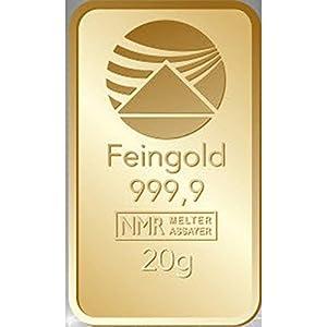 Goldbarren 20 g 20g Gramm Scheckkartenformat Feingold 999.9 geblistert Nadir Gold LBMA-zertifiziert
