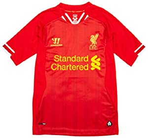 Warrior Boy's LFC Liverpool 2013 2014 Home Replica Short Sleeve Shirt - High Risk Red/White/Amber Yellow, X-Large