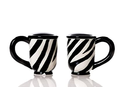 Little River Gift Ceramic Zebra Salt and Pepper Set