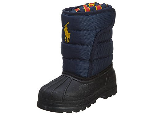 Polo by Ralph Lauren Vancouver EZ Pull-On Boot (Toddler/Little Kid),Navy Nylon,6 M US Toddler