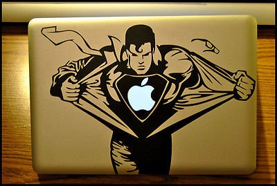Apple Macbook Pro & Air Laptop Decal/Sticker: Superman front-909346