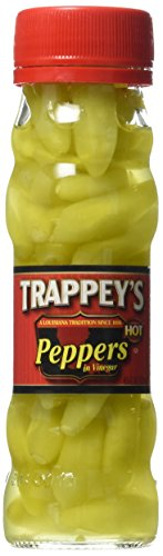 Trappey's Peppers in Vinegar, Hot, 4.5 oz, (3 pack)