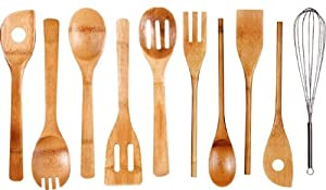 Cook N Home 10-Piece Bamboo Utensil Set