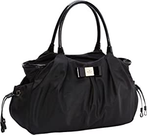 kate spade york Veranda Placa Nylon Stevie Baby Diaper Bag Black from kate spade new york
