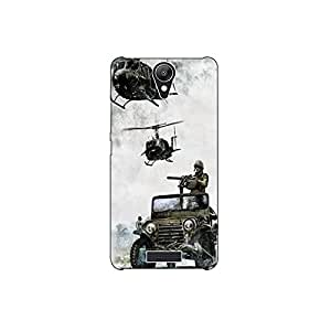 micromax Q-416 nkt09 (4) Mobile Case by oker - Indain Army in Helicopter and Gypsy
