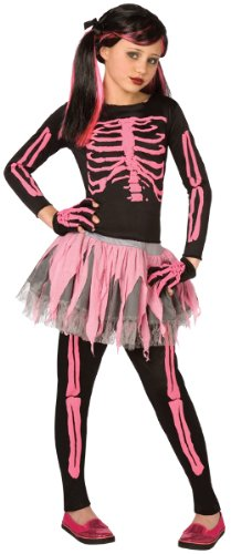 WMU Costume Skeleton Punk Pink Child 8-10