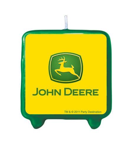 John Deere Printed Cake Decoration Candle