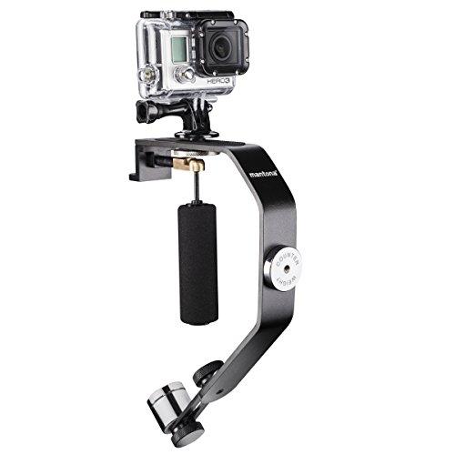 Mantona Schwebestativ für GoPro Hero 2/3 (stabilisiertes Filmen, kleines Maß) inkl. Gegengewicht