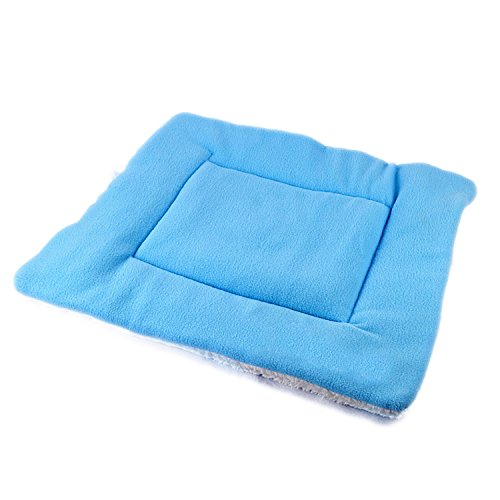 Pawliss Soft Cotton Dog Mat Pet Bed Crate Mat Cat Sleeper Sunseat Blue Medium