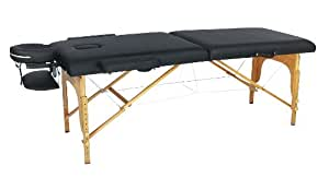 New Black PU Portable Massage Table w/Free Carry Case U1A Chair Bed Spa Facial