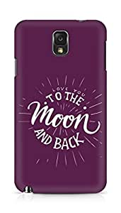 AMEZ love you to the moon and back Back Cover For Samsung Galaxy Note 3