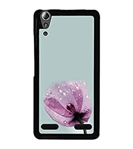 Pink Flower 2D Hard Polycarbonate Designer Back Case Cover for Lenovo A6000 :: Lenovo A6000 Plus :: Lenovo A6000+