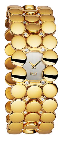 D & G DW0448 Ladies 'Astrakan' Gold Coloured IP Bracelet Watch