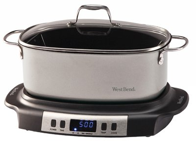 West Bend Dba/Focus Electrics 84966 Slow Cooker With Electronic Controls, Non-Stick Griddle Base, 6-Qts. from West Bend Dba/Focus Electrics
