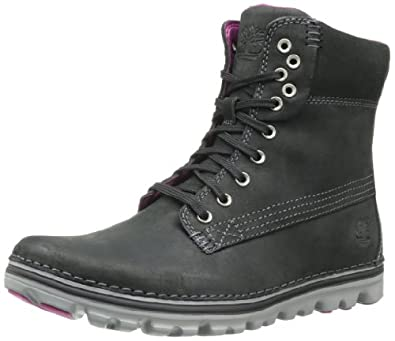 Timberland Women's Brookton 6 Inch Boot,Black,5.5 M US