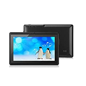 """Willful Q8 7"""" Quad Core Google Android 4.4 KitKat Tablet PC, Dual Camera, HD 1024x600 Multi-touch Screen, 8GB Nand Flash, Google Play & Zoodles Pre-load, 3D Game Supported Black by Cypress Digital"""