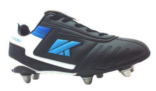 Boy's Lightning Lcst Junio Kooga Black Eight Changeable Studs Rugby Union Boots