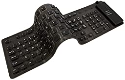 Adesso Flexible Full-Sized Keyboard - USB and PS/2 (AKB-230)