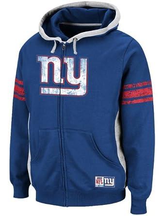 NFL Apparel Mens New York Giants Full Zip Hoodie by NFL Apparel