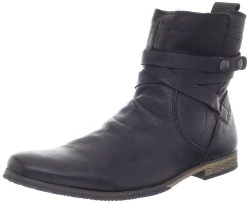 Steve Madden Men's Reviival Pull-On Boot,Black Leather,11 M US