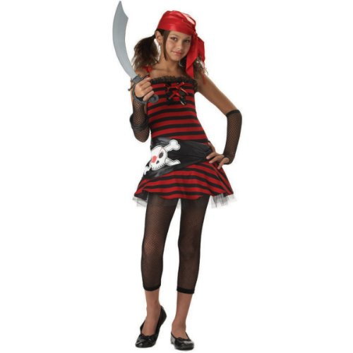 Tween Girls Hip Pirate Cutie Costume (Sword not included)