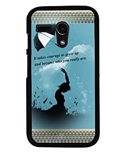 Fuson 2D Printed Quotes Designer back case cover for Motorola Moto G - D4133