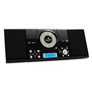 auna mc 120 compact stereo system with mp3 cd player ukw mw radio tuner wall mounting usb. Black Bedroom Furniture Sets. Home Design Ideas