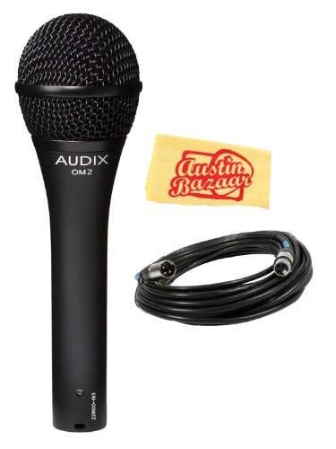 Audix Om2 Dynamic Hypercardioid Handheld Vocal Microphone Bundle With Mic Cable And Polishing Cloth