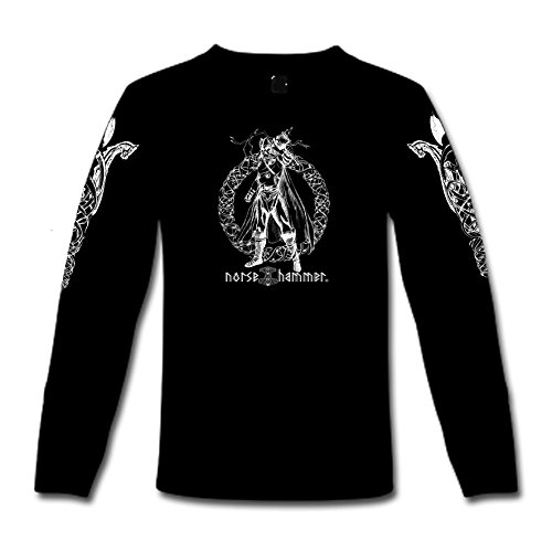 "T-Shirt a maniche lunghe ""Thor"" S-XXL Nero  nero"