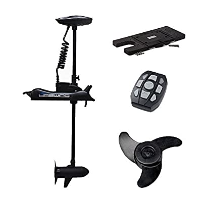 Haswing Cayman Bow Mount Electric Trolling Motor Black with Quick Release Bracket/Quick Release Plate