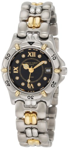 Charles-Hubert, Paris Women's 18303D-LB Diamond & 18KT Gold Collection Gold and Diamond Watch