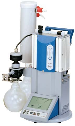 Vacuubrand Chemistry VARIO Pumping Systems and Diaphragm Pumps; Model PC2003; 1.2cfm; 0.45 torr by BrandTech Scientific