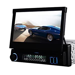 Authentic 7hd Touchscreen 1din Car Cd DVD Mp3 Player Stereo Bluetooth RDS USB by GPS