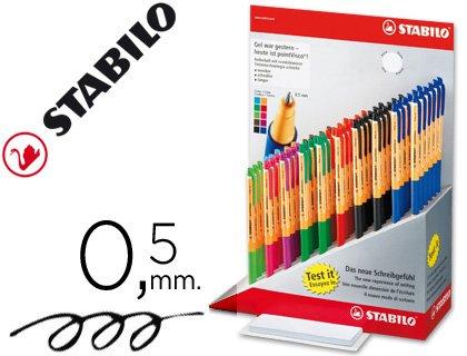 Stabilo - STABILO roller a encre gel pointVisco, presentoir de 60