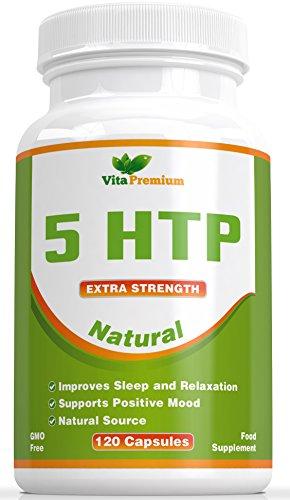 120 Capsule Vegetali 5-HTP, 5 HTP 100mg Aiuta ad Aumentare i Livelli di Melatonina e di Serotonina, Favorisce un Sonno Profondo, il Buonumore e il Rilassamento - o ti Senti Meglio Oppure Sei Rimborsato