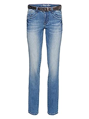 Tom Tailor Women's Straight Alexa with Belt Jeans