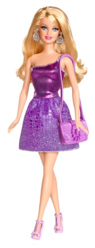Barbie Glitz Doll, Purple Dress - 1
