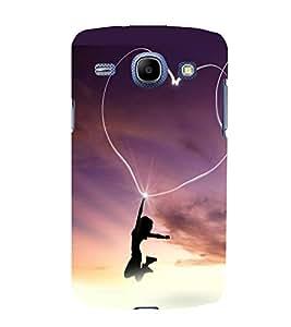 printtech Heart Light Girl Back Case Cover for Samsung Galaxy J1 / Samsung Galaxy J1 J100F