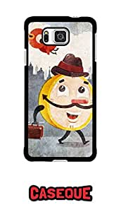 Caseque Be On Time Back Shell Case Cover For Samsung Galaxy Alpha