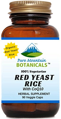 Red Yeast Rice with CoQ10. 90 Kosher Veggie Capsules. Now with 600mg Organic Red Yeast Rice Powder Plus CoQ10 (Rice Extract compare prices)