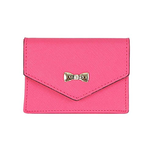 Women39s genuine leather name card holder card case cute for Womens business card case