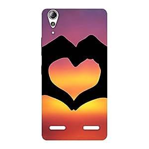 Ajay Enterprises Lovely heart Back Case Cover for Lenovo A6000