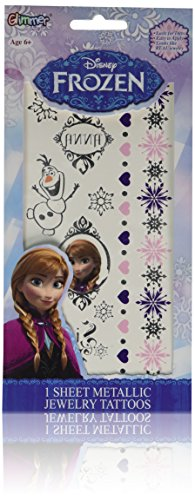 Disney Frozen Princess Anna Metallic Jewelry temporary Tattoo Kit