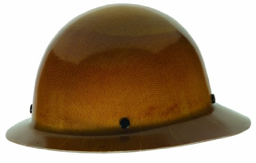 MSA Tan Skullgard Hard Hat  Staz-On Suspension