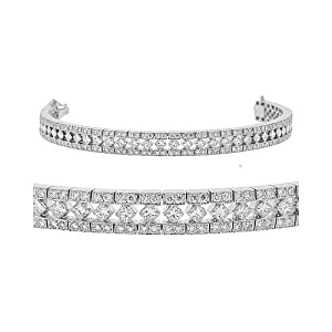 CleverEve Luxury Series Diamond Bracelet - Vintage Style Platinum Tennis Bracelet