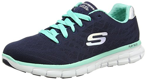 Skechers Synergy Moonlight Madness, Low-Top Sneaker donna, Blu (Blau (NVAQ)), 37
