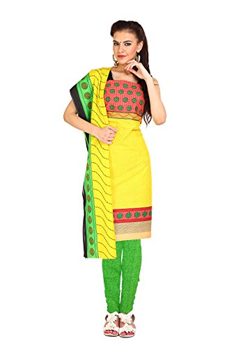 Aryahi Women's Cotton Dress Material (70477_Yellow ...