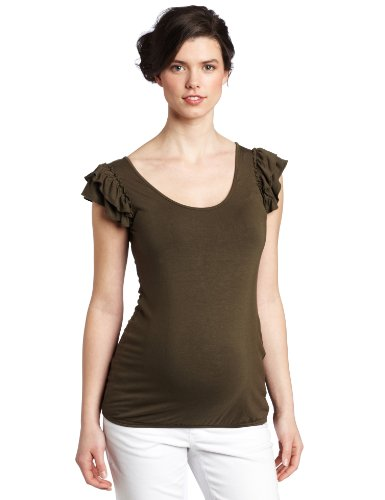 Ripe Maternity Women's Anna Gathered Trim Tank Top