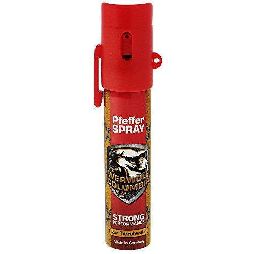 Werwolf Columbia Pfefferspray hochdosiertes- Verteidigungsspray (1 x 20ml red)