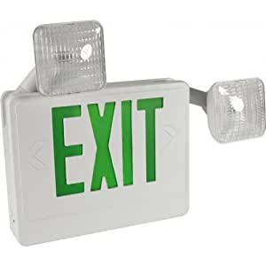 Orbit EECLA-W-G LED Exit Sign & Emergency Light Combo, 120/277V ...
